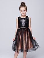 cheap -Girl's Daily Holiday Polka Dot Dress,Cotton Summer Sleeveless Cute Casual Black