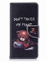 cheap -Case For Nokia Nokia 8 Nokia 6 Card Holder Wallet with Stand Flip Pattern Full Body Word / Phrase Hard PU Leather for Nokia 8 Nokia 6