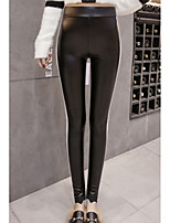 cheap -Women's Polyester Medium Solid Color Legging,Striped Solid This Style is TRUE to SIZE.