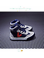 cheap -Boys' Shoes Leatherette Spring Fall Comfort Sneakers for Casual Blue Black White