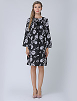 cheap -Women's Work A Line Dress - Floral