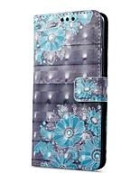 Недорогие -Кейс для Назначение OnePlus Mate 10 pro Mate 10 lite Кошелек Бумажник для карт со стендом Флип С узором Магнитный Чехол Цветы Твердый