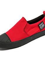 baratos -Homens sapatos Lona Primavera Outono Solados com Luzes Mocassins e Slip-Ons para Casual Preto Cinzento Vermelho