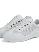 cheap -Men's Shoes PU Spring Fall Comfort Sneakers for Casual White Black Silver