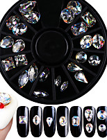 cheap -Glitter Rhinestones Nail Jewelry Crystal Fashionable Jewelry Luxury Pattern Clear Nail Art Design