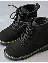 cheap -Boys' Shoes Nubuck leather Spring Fall Comfort Combat Boots Boots Booties/Ankle Boots for Casual Khaki Black
