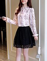 cheap -Women's Polyester Blouse - Floral V Neck