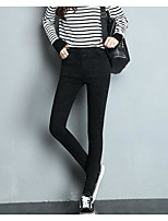 cheap -Women's Retro Cotton Opaque Solid Color Legging,Plaid Print Black