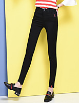 cheap -Women's Pure Color Polyester Opaque Solid Color Legging,Solid Black