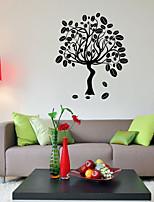 Недорогие -ботанический Мода Наклейки Простые наклейки Декоративные наклейки на стены,Винил Украшение дома Наклейка на стену Стена Окно