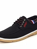 Недорогие -Для мужчин обувь Полотно Весна Осень Удобная обувь Кеды для Повседневные Черный Коричневый Синий