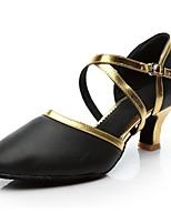 cheap -Women's Modern Leatherette Heel Indoor Customized Heel Black/Gold Black/Silver Customizable