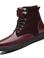 cheap -Shoes PU Spring Fall Comfort Boots for Casual Black Brown