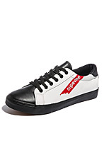 cheap -Men's Shoes PU Spring Fall Vulcanized Shoes Sneakers for Casual White Black