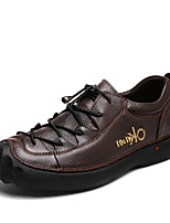 cheap -Men's Shoes Cowhide Leather Spring Fall Driving Shoes Formal Shoes Comfort Sneakers for Casual Office & Career Black Dark Brown