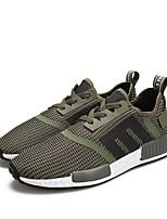 Недорогие -обувь Трикотаж Искусственное волокно Зима Лето Удобная обувь Кеды для Повседневные Черный Военно-зеленный Красный