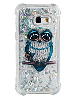 cheap -Case For Samsung Galaxy A5(2017) A3(2017) Shockproof Flowing Liquid Pattern Back Cover Owl Soft TPU for A3(2017) A5(2017) A7(2017)