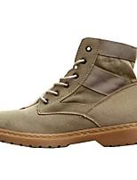 Недорогие -Муж. обувь Полиуретан Зима Осень Удобная обувь Модная обувь Ботинки для Повседневные Черный Серый Хаки