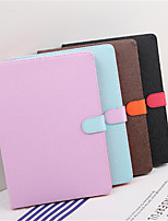 abordables -Coque Pour Apple iPad mini 4 Antichoc Avec Support Mise en veille automatique Coque Intégrale Couleur unie Dur faux cuir pour iPad Pro