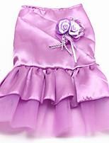 Недорогие -Собака Платья Одежда для собак Вечеринка Свадьба Принцесса Принцесса Лиловый Красный Синий Розовый Костюм Для домашних животных