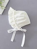 cheap -Girls' Hats & Caps,All Seasons Polyester White