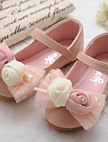 cheap -Girls' Shoes Synthetic Microfiber PU Spring Summer Comfort Flower Girl Shoes Sandals for Casual Beige Pink