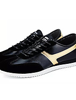 cheap -Men's Shoes PU Spring Fall Comfort Sneakers for Casual White Black/Gold Black/White