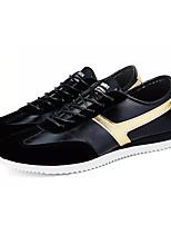 Недорогие -Муж. обувь Полиуретан Весна Осень Удобная обувь Кеды для Повседневные Белый Черный и золотой Черно-белый