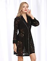abordables -Ultra Sexy Pyjamas Femme-Dentelle,Couleur Pleine