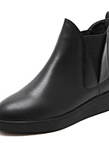 preiswerte -Damen Schuhe Künstliche Mikrofaser Polyurethan Winter Herbst Komfort Stiefeletten Stiefel Flacher Absatz Booties / Stiefeletten für Normal