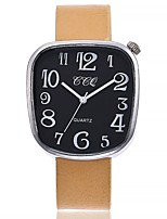 cheap -Women's Wrist watch Fashion Watch Chinese Quartz Large Dial Genuine Leather Band Casual Minimalist Black Silver Red Brown Beige
