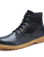cheap -Men's Shoes Cowhide Spring Fall Comfort Combat Boots Boots for Casual Black Beige Camel
