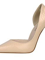 preiswerte -Damen Schuhe Lackleder Frühling Herbst Gladiator Pumps High Heels Stöckelabsatz Spitze Zehe für Kleid Party & Festivität Weiß Schwarz Rot