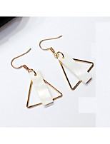 cheap -Women's Drop Earrings Front Back Earrings Fashion Lovely Shell, Bone, Coral Alloy Triangle Jewelry Party Daily Costume Jewelry