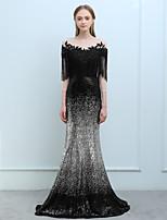 economico -A sirena Con decorazione gioiello Lungo Con strass Serata formale Vestito con Perline Di pizzo Nappa (e) di SG