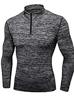 cheap -Women's Running Baselayer Long Sleeves Breathability Sweatshirt for Exercise & Fitness Outdoor Exercise Running Polyester Black Dark Grey