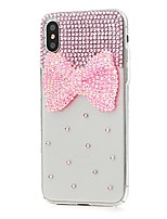 cheap -Case For Apple iPhone X iPhone 8 Plus Rhinestone Pattern Full Body Cases Flower Hard PU Leather for iPhone X iPhone 8 Plus iPhone 8