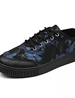 cheap -Shoes PU Spring Fall Comfort Sneakers for Casual Black Black/Blue