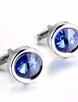 abordables -Forma de Círculo Blanco Morado Azul Gemelos Zirconio Cobre Formal Moda Diario Formal Hombre Joyería de disfraz