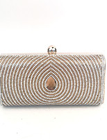 cheap -Women's Bags PU Metal Clutch Crystal Detailing for Event/Party Spring Summer Gold