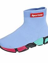 Недорогие -Мальчики Девочки обувь Трикотаж Весна Осень Удобная обувь Модная обувь Ботинки Ботинки для Повседневные Черный Серебряный Синий Розовый