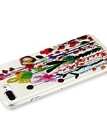 economico -Custodia Per Apple iPhone 7 iPhone 6 Fantasia/disegno Custodia posteriore Glitterato Fiore decorativo Resistente PC per iPhone 7 Plus