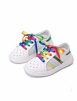 cheap -Girls' Shoes Tulle Spring Fall Comfort Sneakers for Casual Black White