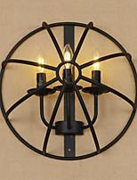 Недорогие -Мини Ретро Модерн Назначение Столовая кафе Металл настенный светильник 220-240Вольт 60W