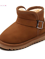 cheap -Girls' Shoes Nubuck leather Winter Fall Comfort Snow Boots Boots Booties/Ankle Boots for Casual Camel Gray Black