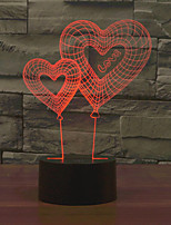 cheap -1pc 3D Lamp LED Night Light Touch Colorful Double Love Novelty Table Desk for Valentine's Day