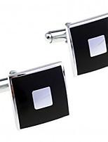 cheap -Irregular Black Cufflinks Gold Plated Simple Fashion Gift Office & Career Men's Costume Jewelry