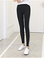cheap -Women's Nylon Opaque Solid Color Legging,Striped This Style is TRUE to SIZE.