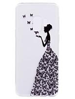 abordables -Coque Pour Samsung Galaxy S9 Plus S9 Motif Coque Arrière Papillon Femme Sexy Flexible TPU pour S9 S9 Plus S8 Plus S8 S7 edge S7 S5 Mini S5