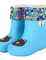 Недорогие -Девочки обувь КожаПВХ Весна Осень Удобная обувь Резиновые сапоги Ботинки Сапоги до середины икры для Повседневные Желтый Зеленый Синий